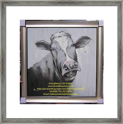 cow Framed Print by Darren