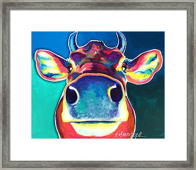Cow - Fawn Framed Print by Alicia VanNoy Call