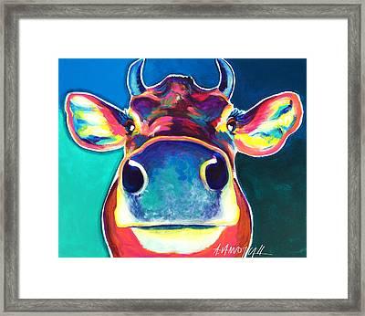 Cow - Fawn Framed Print