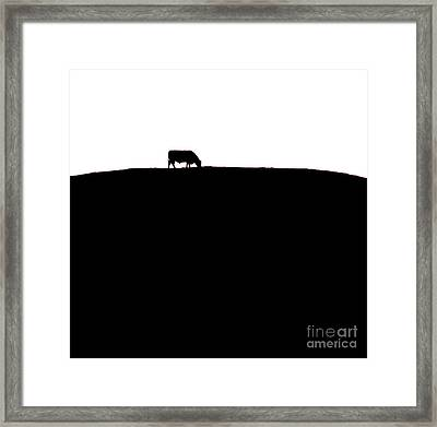 Cow Hill  - Triptych   Part 3 Of 3 Framed Print by Sean Davey