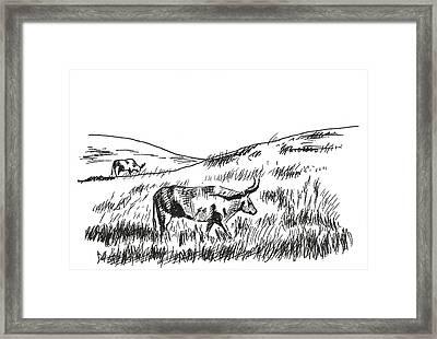 Country Morning Framed Print by Masha Batkova