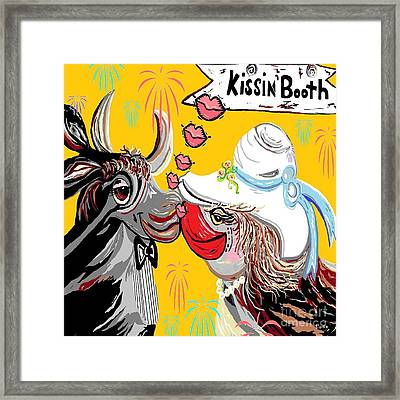 Cow Kiss Framed Print by Eloise Schneider