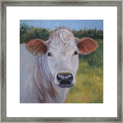 Cow Painting Ms Ivory Framed Print