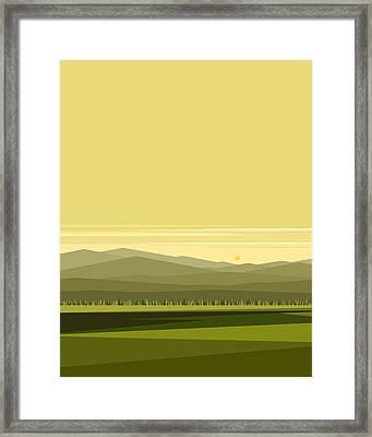 Cow Pass Spring Green - Vertical Framed Print