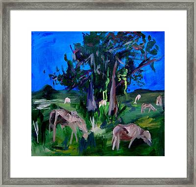 Cow Pasture   Neptune Road Framed Print by Ellen Seymour
