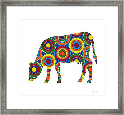 Cow Framed Print by Ron Magnes