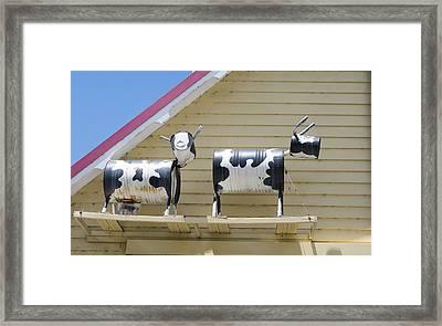 Cow Sculptures Framed Print by Steven Ralser