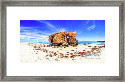 Cow - Sentry Rock, Two Rocks Framed Print