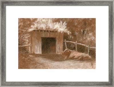 Cow Shed Framed Print