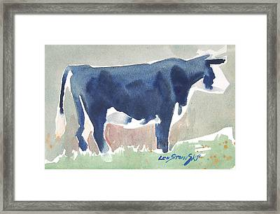 Cow Sketch Framed Print