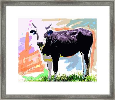 Cow Time Framed Print