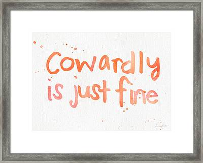 Cowardly Framed Print by Linda Woods
