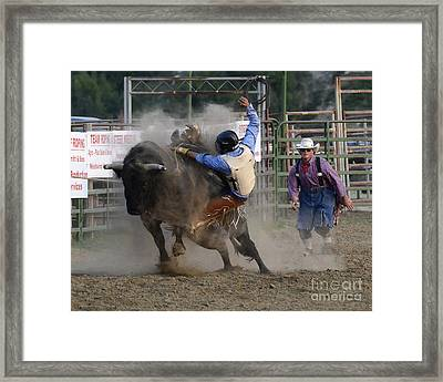 Cowboy Art 1 Framed Print by Bob Christopher