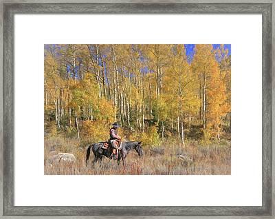 Cowboy At Work Framed Print