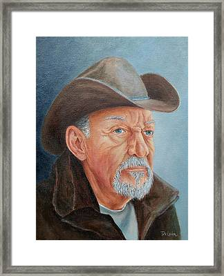 Framed Print featuring the painting Cowboy Bob by Susan DeLain