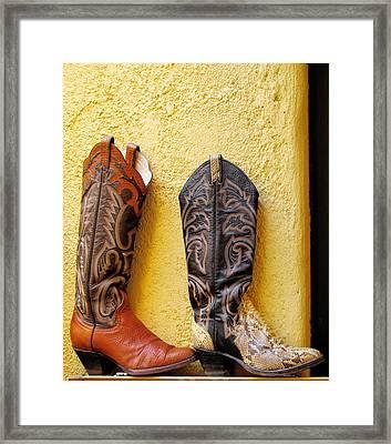Cowboy Boots For Sale Framed Print by Elvira Butler