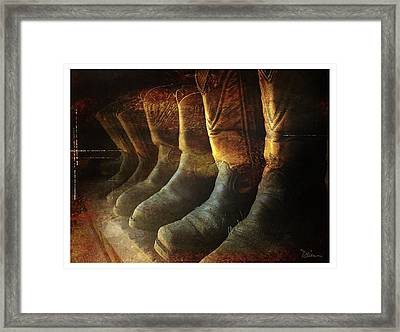 Cowboy Boots Framed Print by Peggy Dietz