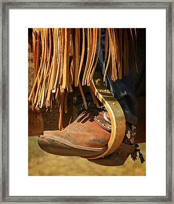 Cowboy Boots Framed Print