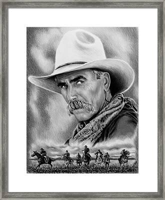 Cowboy Bw Framed Print
