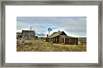 Cowboy Cabin Framed Print by Steve McKinzie