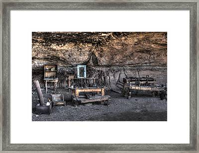 Cowboy Camp 1880s Framed Print