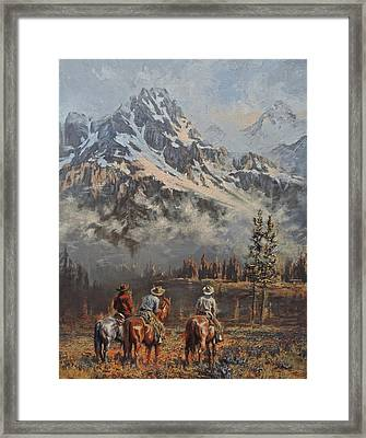 Cowboy Cathedral Framed Print