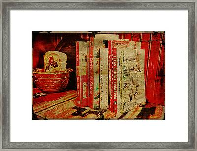 Cowboy Cookbooks Framed Print