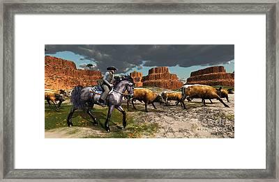 Cowboy Framed Print by Corey Ford