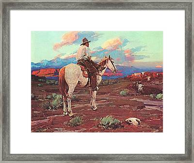 Cowboy Country Framed Print by Pg Reproductions