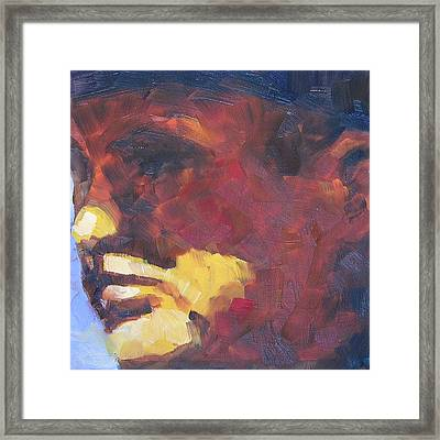 Cowboy Dan Framed Print by Mary McInnis