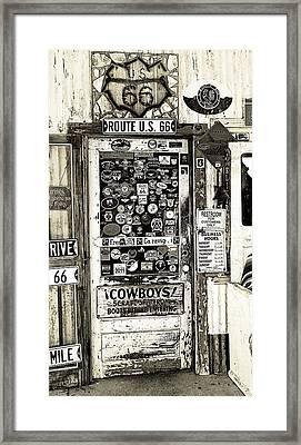 Cowboy Door Framed Print