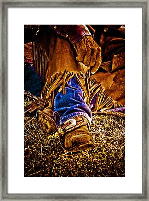 Cowboy Gold Framed Print by Toni Hopper