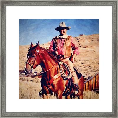 Cowboy John Wayne Framed Print