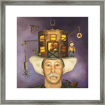 Cowboy Karl Framed Print by Leah Saulnier The Painting Maniac
