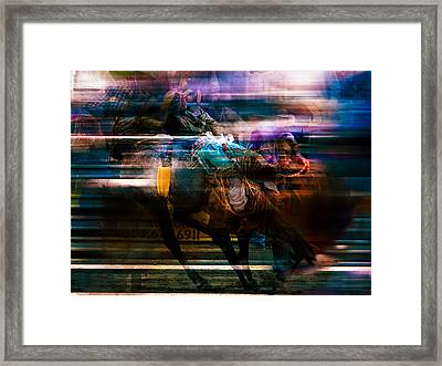 Cowboy Framed Print by Mark Courage
