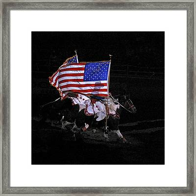 Cowboy Patriots Framed Print by Ron White