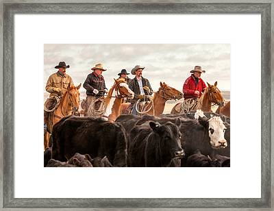 Cowboy Posse Framed Print by Todd Klassy