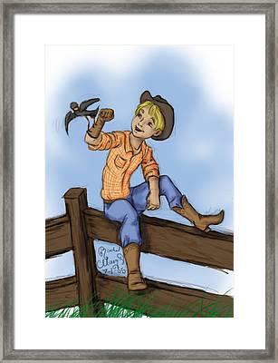 Cowboy Framed Print by Rachel Marquez