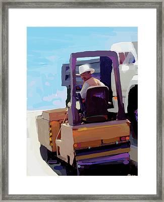 Cowboy Rider Framed Print by Brad Burns