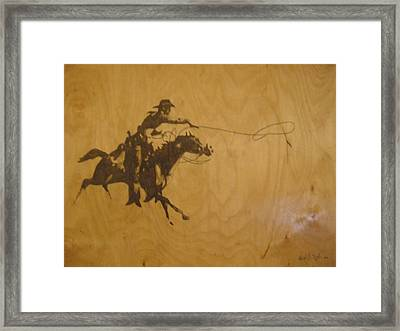 Cowboy Framed Print by Robert Cunningham