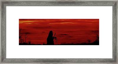 Cowboy Framed Print by Robert Marquiss