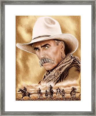 Cowboy Sepia Edit Framed Print