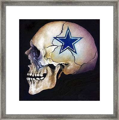 Cowboy Skull Framed Print by Kd Neeley