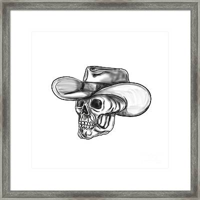 Cowboy Skull Tattoo Framed Print by Aloysius Patrimonio