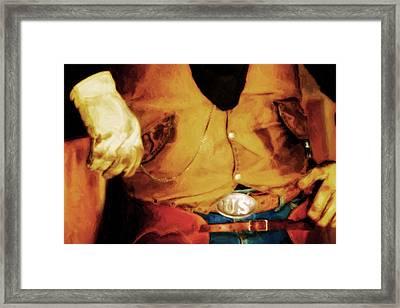 Cowboy Style Framed Print by Nick Sokoloff