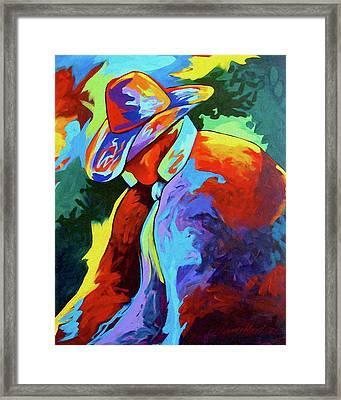 Cowboy Who Framed Print by Lance Headlee