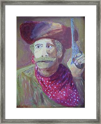 Cowboy With A Gun Framed Print