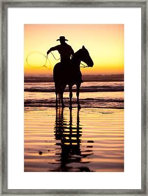 Cowboy Framed Print by Zarija Pavikevik