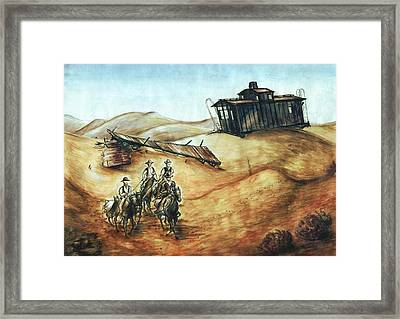 Cowboys And Canyons - Western Art Framed Print by Art America Gallery Peter Potter