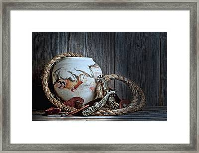 Cowboys And Indians Framed Print by Tom Mc Nemar